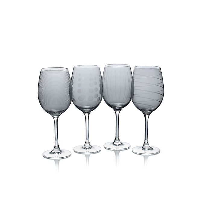Alternate image 1 for Mikasa® Cheers 16 oz. White Wine Glasses in Smoke (Set of 4)
