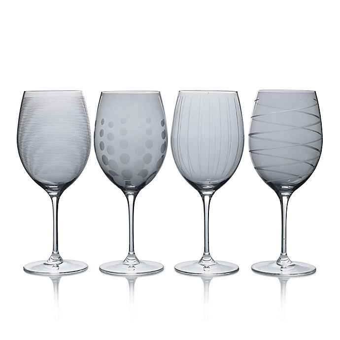 Alternate image 1 for Mikasa® Cheers 24 oz. Red Wine Glasses in Smoke (Set of 4)