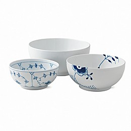 Royal Copenhagen 3-Piece History Mix Bowl Set