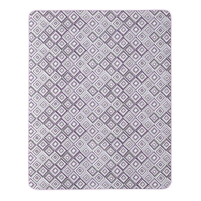 Alternate image 1 for Alexi Indoor/Outdoor Throw Blanket in Purple/Grey