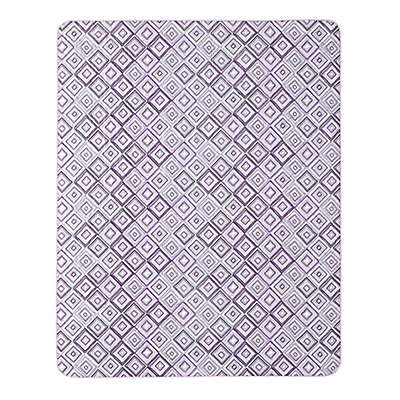 Alexi Indoor/Outdoor Throw Blanket in Purple/Grey