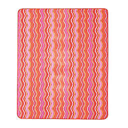 Winny Indoor/Outdoor Throw Blanket in Pink/Orange