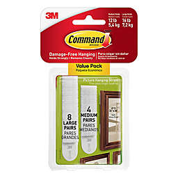 3m Command Trade 12 Pack Picture Hanging Strips