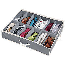 Shoes Under™ Shoe Storage Organizer in Grey