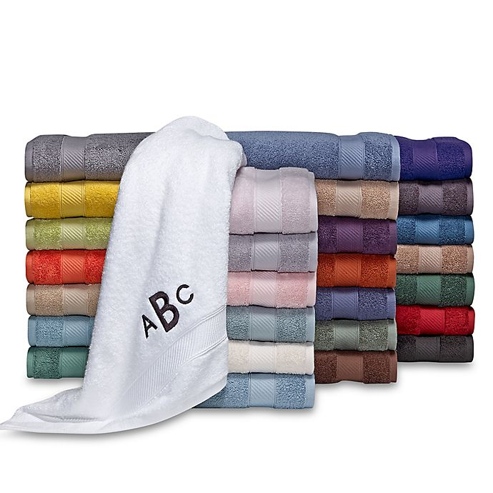 Alternate image 1 for Wamsutta® Personalized Hygro® Duet Bath Towel Collection