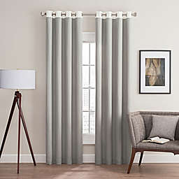 Costas Remix 95-Inch Grommet Top Window Curtain Panel in Grey