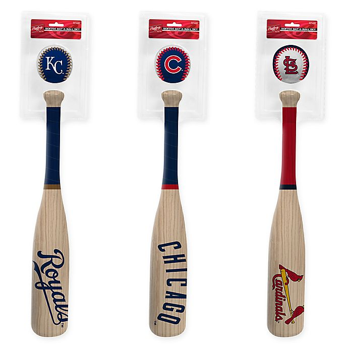 Alternate image 1 for MLB Softee Bat and Ball Collection Set