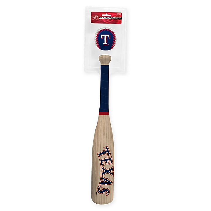 Alternate image 1 for Texas Rangers Softee Bat and Ball Set