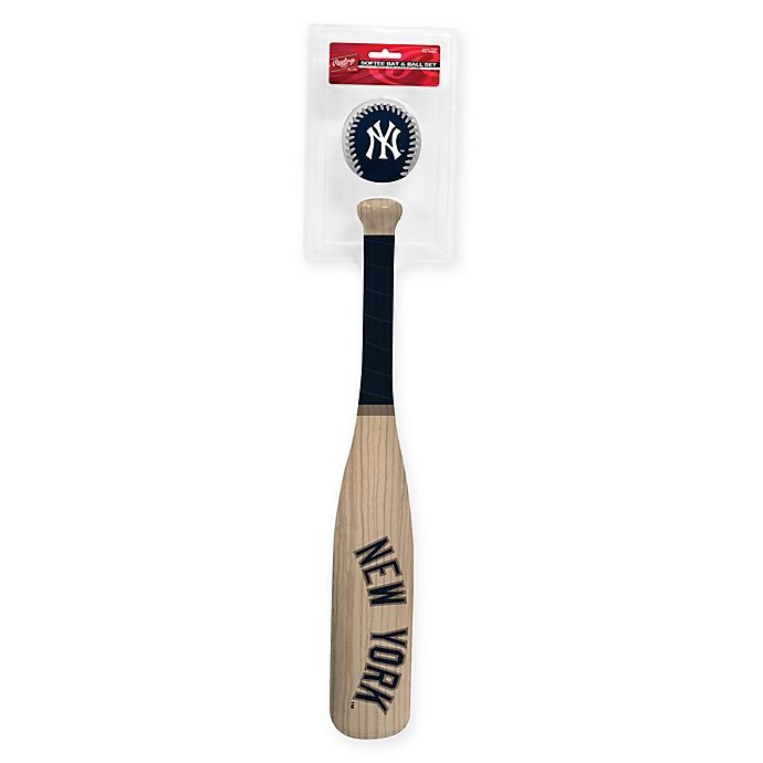 Alternate image 1 for New York Yankees Softee Bat and Ball Set