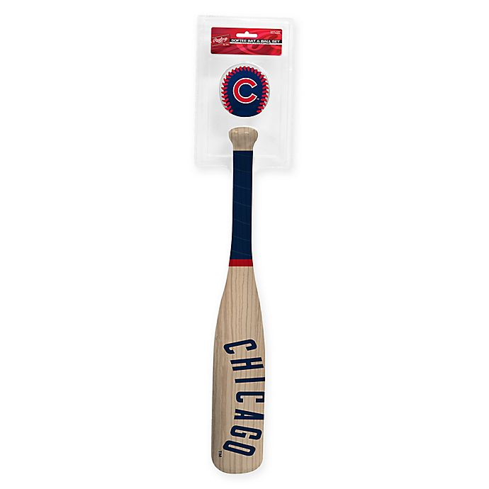 Alternate image 1 for Chicago Cubs Softee Bat and Ball Set
