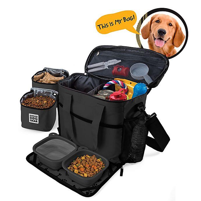 Alternate image 1 for Overland Gear Week Away Medium/Large Dog Bag in Black