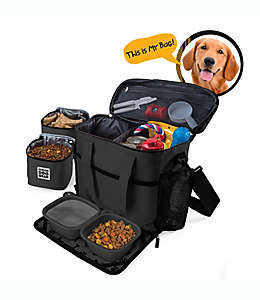 Bolsa de viaje mediana/grande para perro Overland Gear en negro