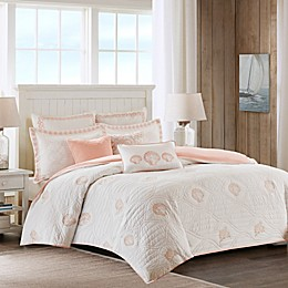 Harbor House Seaside Coral Quilted Duvet Cover