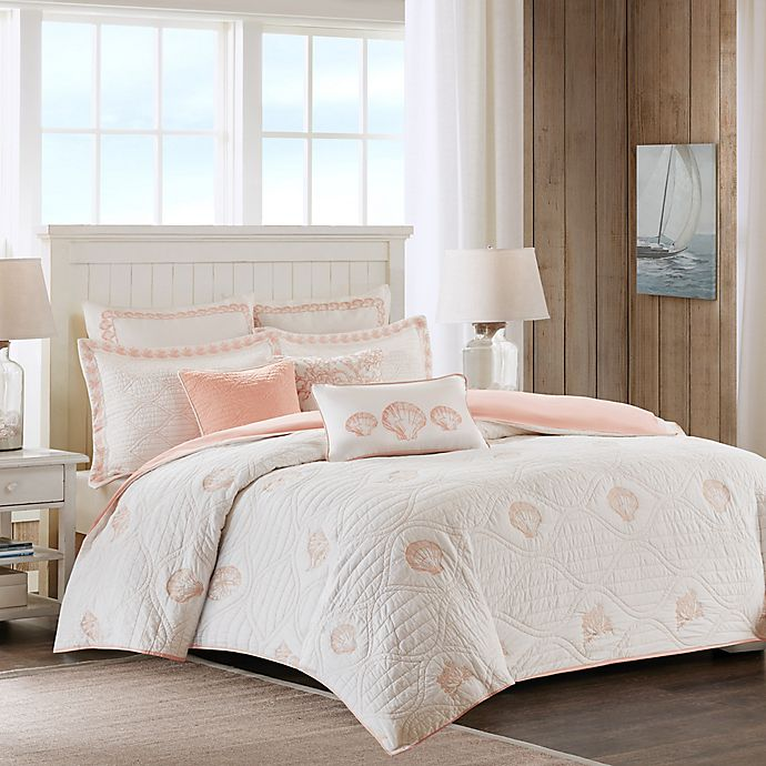 Alternate image 1 for Harbor House Seaside Coral Quilted Duvet Cover