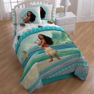 Disney Moana Quot The Wave Quot 4 Piece Twin Comforter Set In Aqua Bed Bath Amp Beyond