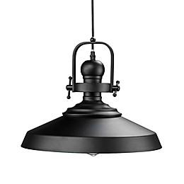 Southern Enterprises Mindel Bell Pendant Lamp in Black