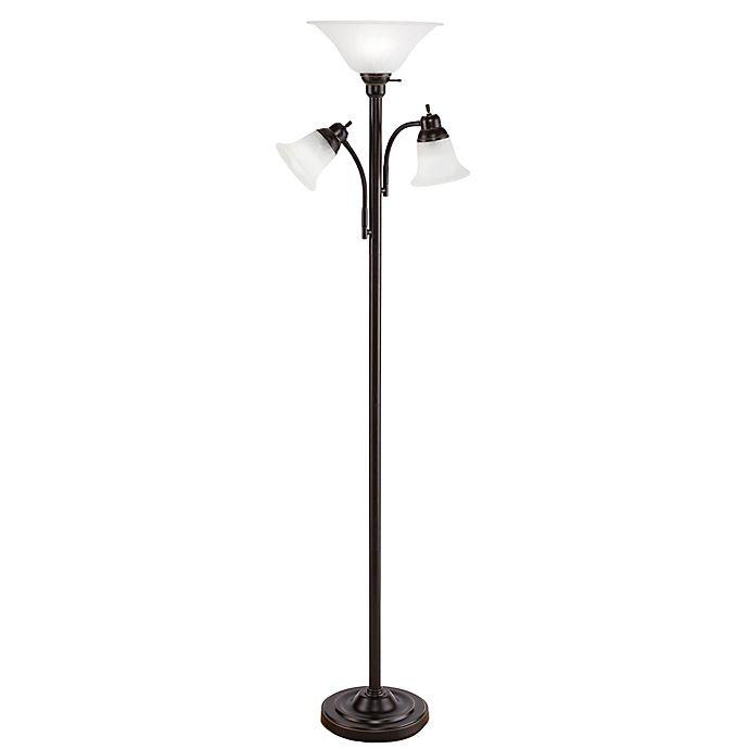 Southern Enterprises Orson 3-Light Floor Lamp In Black