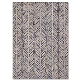 KAS Gramercy Herringbone Rug in Blue