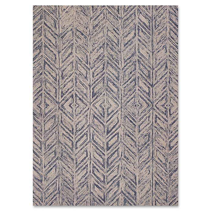 Alternate image 1 for KAS Gramercy Herringbone Rug in Blue