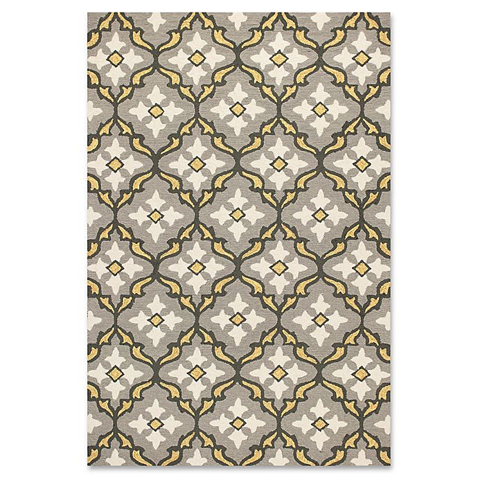 Alternate image 1 for KAS Harbor Mosaic 2-Foot x 3-Foot Indoor/Outdoor Accent Rug in Grey/Gold