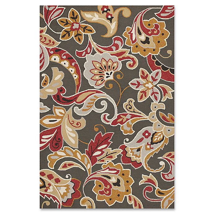 Alternate image 1 for KAS Harbor Flora Indoor/Outdoor Area Rug in Taupe
