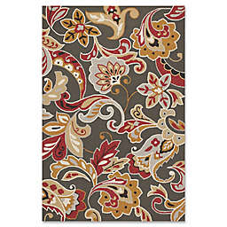 KAS Harbor Flora Indoor/Outdoor Area Rug in Taupe