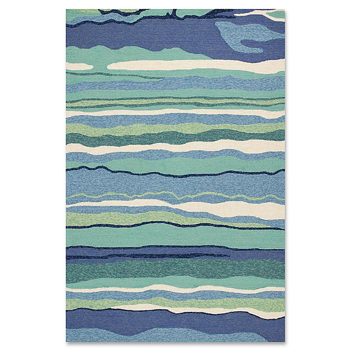 Alternate image 1 for KAS Harbor Lagoon Indoor/Outdoor Area Rug in Ocean