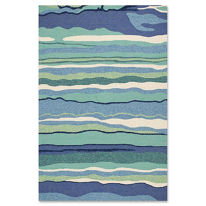 Alternate image 1 for Harbor Lagoon 7-Foot 6-Inch x 9-Foot 6-Inch Indoor/Outdoor Area Rug in Ocean