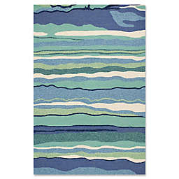 Harbor Lagoon 7-Foot 6-Inch x 9-Foot 6-Inch Indoor/Outdoor Area Rug in Ocean
