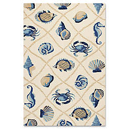 KAS Harbor Seaside 7-Foot 6-Inch x 9-Foot 6-Inch Indoor/Outdoor Area Rug in Sand