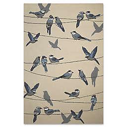 KAS Harbor Birds On A Wire Indoor/Outdoor Rug