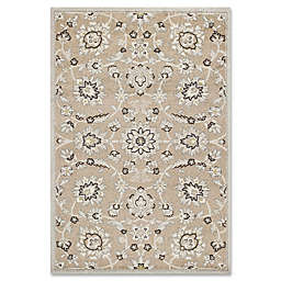 KAS Lucia Verona 1-Foot 11-Inch x 3-Foot 9-Inch Indoor/Outdoor Accent Rug in Beige/Grey
