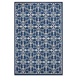 23-Inch x 35-Inch Lucia Indoor/Outdoor Accent Rug in Denim