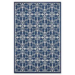 7-Foot 7-Inch x 10-Foot 10-Inch Lucia Indoor/Outdoor rug in Denim