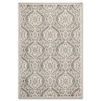KAS Lucia Mosaic 2-Foot x 3-Foot 9-Inch Indoor/Outdoor Accent Rug in Silver