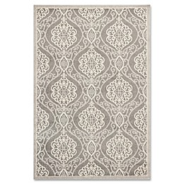 KAS Lucia Mosaic Indoor/Outdoor Rug in Silver