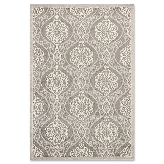 Alternate image 1 for KAS Lucia Mosaic Indoor/Outdoor Rug in Silver