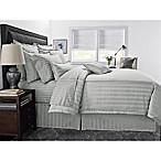 Wamsutta® 500-Thread-Count PimaCott® Damask Stripe Full/Queen Duvet Cover Set in Silver