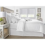 Wamsutta® 500-Thread-Count PimaCott® Damask Stripe King Duvet Cover Set in White