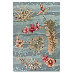 KAS Coral Visions Rug in Seafoam