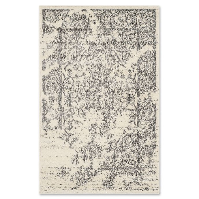 Alternate image 1 for Safavieh Adirondack 2-Foot 6-Inch x 4-Foot Accent Rug in Ivory/Silver