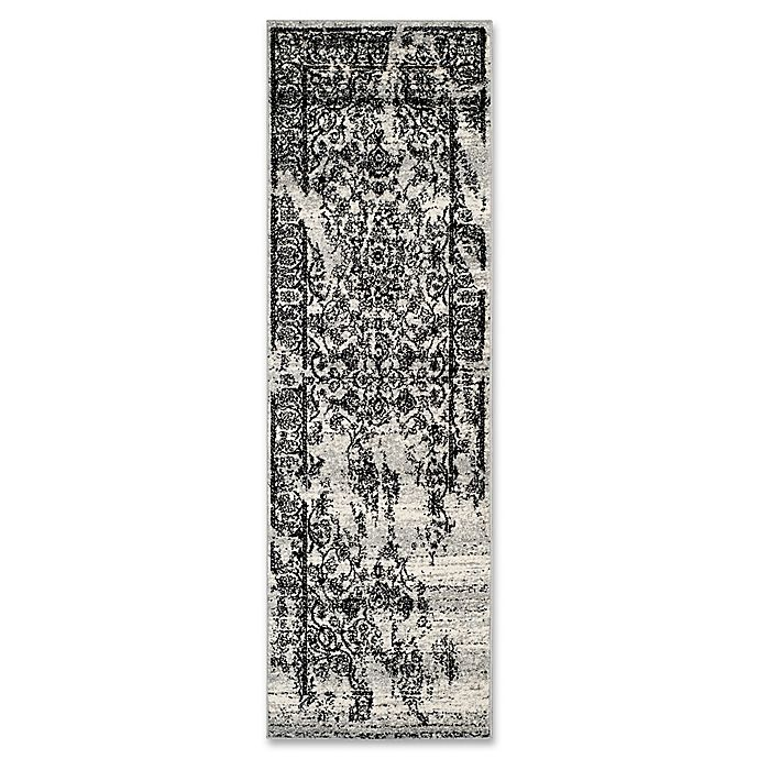 Alternate image 1 for Safavieh Adirondack 2-Foot 6-Inch x 8-Foot Runner in Silver/Black