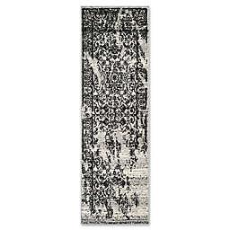 Safavieh Adirondack 2-Foot 6-Inch x 16-Foot Runner in Silver/Black