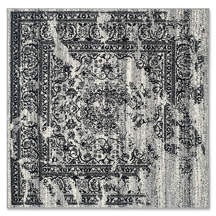 Alternate image 1 for Safavieh Adirondack 4-Foot Square Accent Rug in Silver/Black