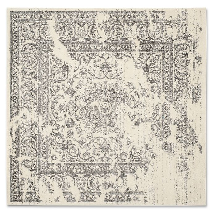 Alternate image 1 for Safavieh Adirondack 4-Foot Square Accent Rug in Ivory/Silver