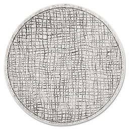 Safavieh Adirondack 6-Foot Round Area Rug in Silver/Ivory