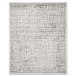 Safavieh Adirondack 9-Foot x 12-Foot Area Rug in Silver/Ivory