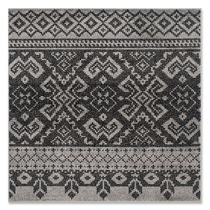 Alternate image 1 for Safavieh Adirondack 4-Foot Square Area Rug in Silver/Black