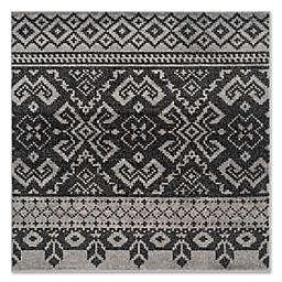 Safavieh Adirondack 6-Foot Square Area Rug in Silver/Black