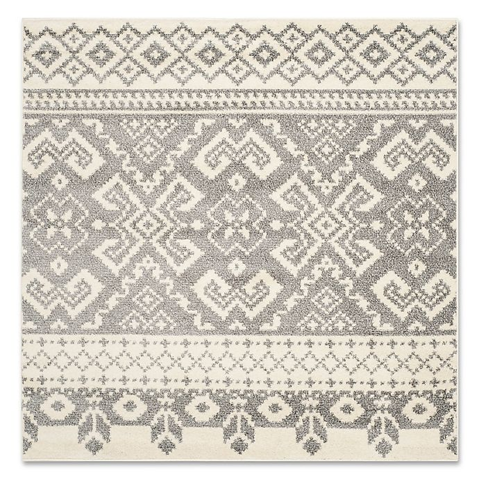 Alternate image 1 for Safavieh Adirondack 6-Foot Square Area Rug in Ivory/Silver